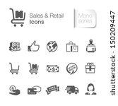 sales   retail related icons.  | Shutterstock .eps vector #150209447