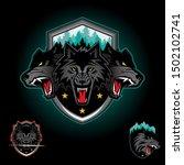 wolf pack emblem logo badge.... | Shutterstock .eps vector #1502102741
