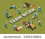 farm work agricultural duties... | Shutterstock .eps vector #1502110601