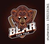 a bear for a sport gaming logo  ... | Shutterstock .eps vector #1502131361