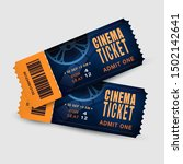 two cinema tickets isolated on... | Shutterstock .eps vector #1502142641