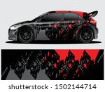 rally car decal graphic wrap... | Shutterstock .eps vector #1502144714