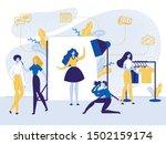 studio photo shoot with model... | Shutterstock .eps vector #1502159174