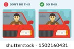 wear seatbelts while driving.... | Shutterstock .eps vector #1502160431
