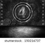 grunge film countdown room | Shutterstock . vector #150216737