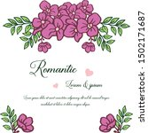 greeting card romantic  with... | Shutterstock .eps vector #1502171687
