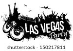 Stock vector las vegas party 150217811