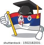 graduation serbia flag flown on ... | Shutterstock .eps vector #1502182031