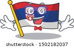 geek serbia flag flown on... | Shutterstock .eps vector #1502182037