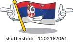 wink serbia flag flown on... | Shutterstock .eps vector #1502182061