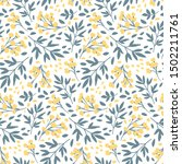 vector floral seamless pattern. ... | Shutterstock .eps vector #1502211761