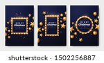 christmas greeting card set.... | Shutterstock .eps vector #1502256887