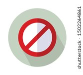 sign forbidden icon   from map  ... | Shutterstock .eps vector #1502264861