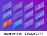 3d isometric chart and graphics.... | Shutterstock .eps vector #1502268974