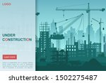 construction works flat vector... | Shutterstock .eps vector #1502275487