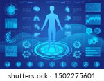human anatomy medical hologram... | Shutterstock .eps vector #1502275601