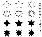 star minimal vector icons...