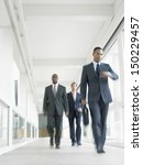 blurred motion of multiethnic... | Shutterstock . vector #150229457
