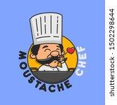 moustache chef good for... | Shutterstock .eps vector #1502298644