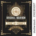 vintage liquor label template... | Shutterstock .eps vector #1502303207