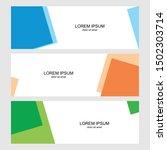 template of banner  brochure ... | Shutterstock .eps vector #1502303714