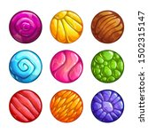 colorful round jelly icons....
