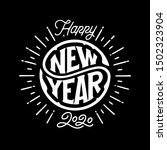 happy new year 2020 circular... | Shutterstock .eps vector #1502323904