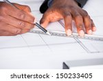close up of happy architect... | Shutterstock . vector #150233405
