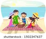 illustration of a stickman... | Shutterstock .eps vector #1502347637