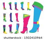 beautiful women winter stylish...   Shutterstock . vector #1502410964