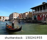 traditional venice gondola ride  | Shutterstock . vector #150241955