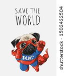 slogan with cartoon dog in hero ... | Shutterstock .eps vector #1502432504