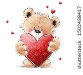 Cute Teddy Bear In Love With...