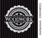 woodwork silver emblem or badge.... | Shutterstock .eps vector #1502448521