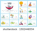 vector colorful monthly... | Shutterstock .eps vector #1502448554