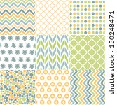 seamless patterns with fabric... | Shutterstock .eps vector #150248471