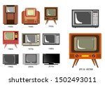 set of television history...   Shutterstock .eps vector #1502493011