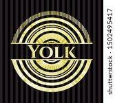 yolk gold badge or emblem.... | Shutterstock .eps vector #1502495417