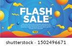 blue banner flash sale... | Shutterstock .eps vector #1502496671