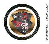 casino logo design  colorful... | Shutterstock .eps vector #1502498234