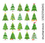vector set of cartoon christmas ... | Shutterstock .eps vector #1502556041