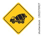 concrete mixer road sign on...   Shutterstock .eps vector #1502570927
