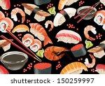 sushi seamless pattern | Shutterstock . vector #150259997