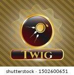 golden badge with... | Shutterstock .eps vector #1502600651