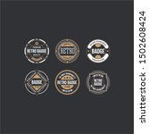 circle vintage and retro badge... | Shutterstock .eps vector #1502608424