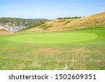 Golf Course Near Etretat In...