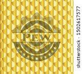pew golden badge or emblem.... | Shutterstock .eps vector #1502617577