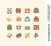 git box icon set | Shutterstock .eps vector #150263267