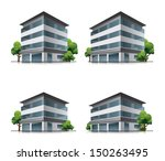 set of four hotel or business... | Shutterstock .eps vector #150263495