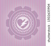 broken heart icon inside badge... | Shutterstock .eps vector #1502635904
